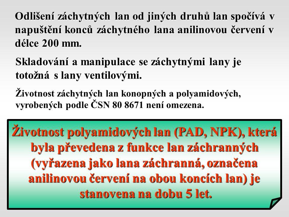 Životnost polyamidových lan (PAD, NPK), která