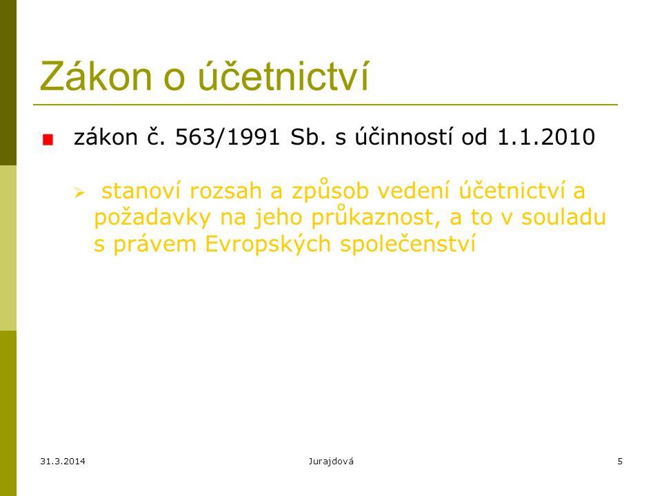 Zákon o účetnictví zákon č. 563/1991 Sb. s účinností od 1.1.2010