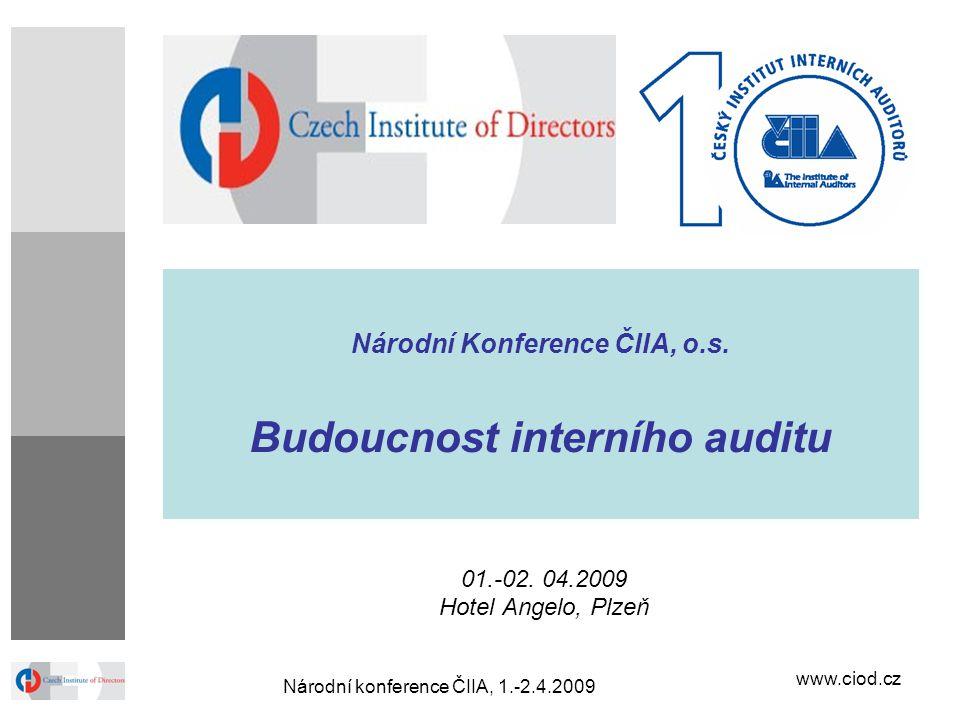 Národní Konference ČIIA, o.s. Budoucnost interního auditu