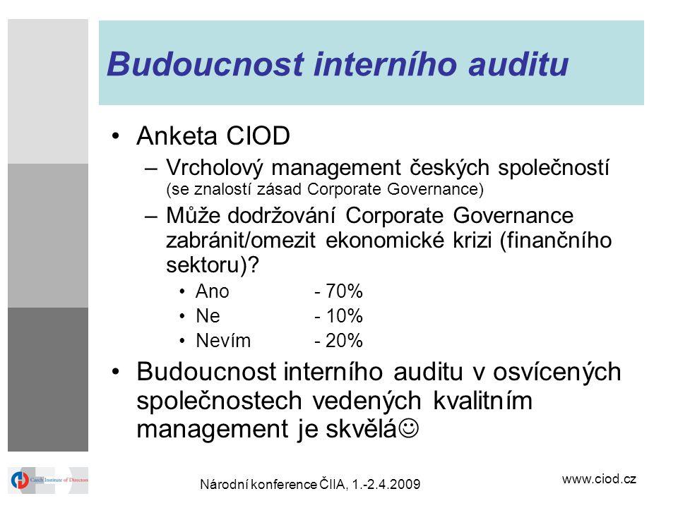Budoucnost interního auditu