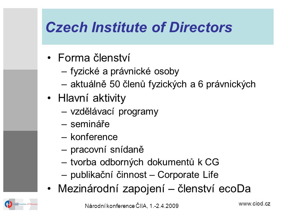 Czech Institute of Directors