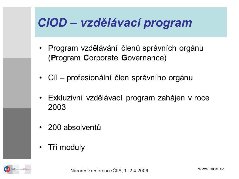 CIOD – vzdělávací program