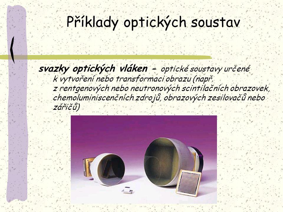 Příklady optických soustav