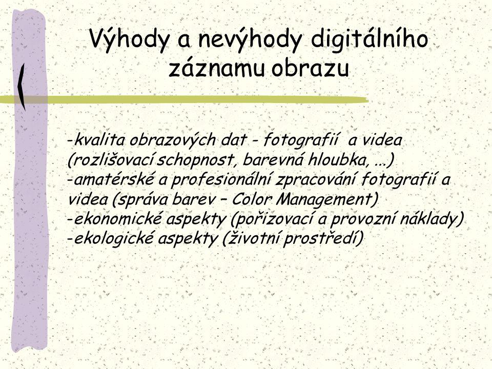 Výhody a nevýhody digitálního záznamu obrazu