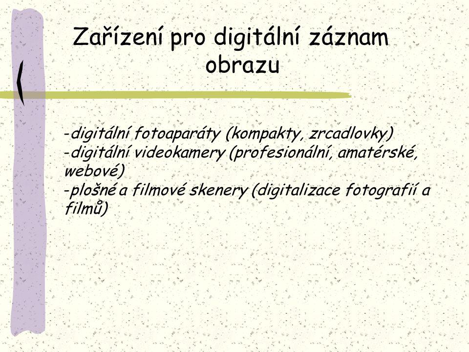 Zařízení pro digitální záznam obrazu