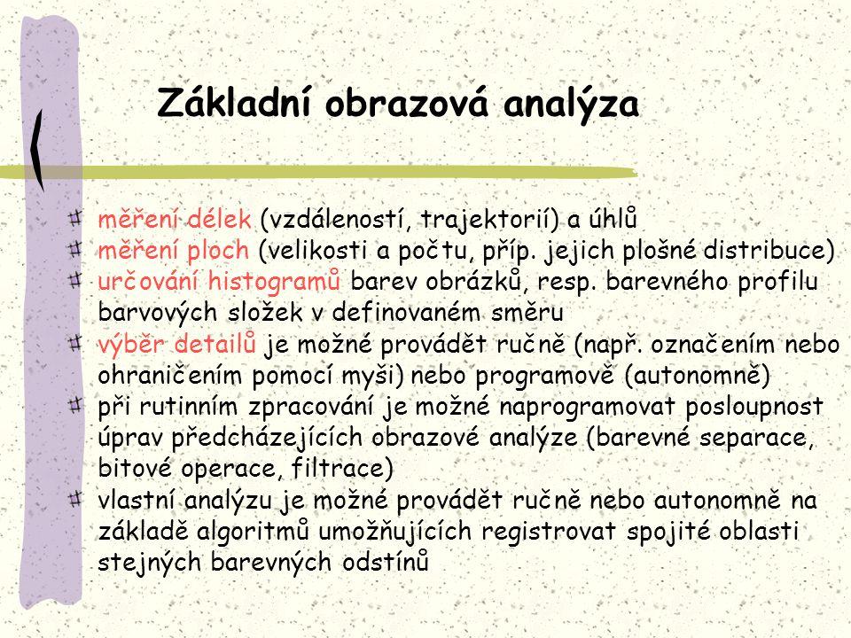 Základní obrazová analýza