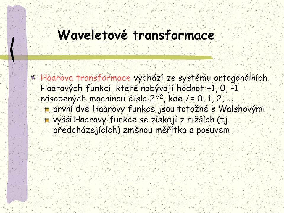 Waveletové transformace