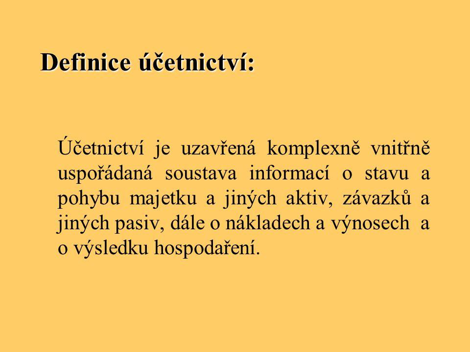 Definice účetnictví:
