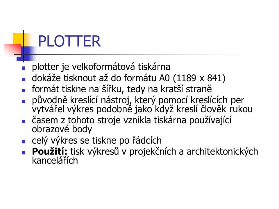 PLOTTER plotter je velkoformátová tiskárna