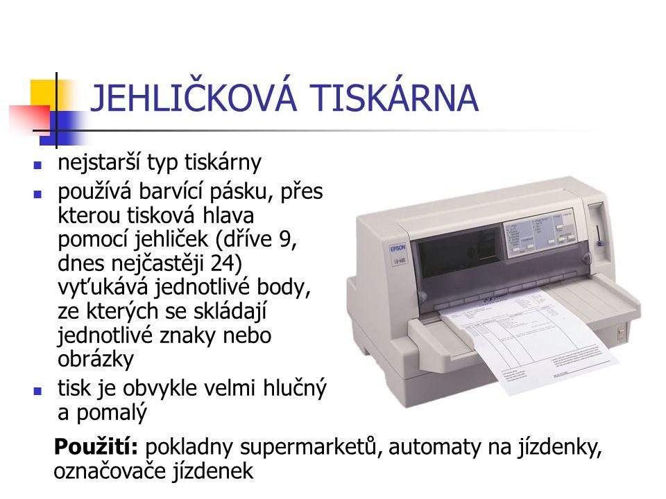 JEHLIČKOVÁ TISKÁRNA nejstarší typ tiskárny