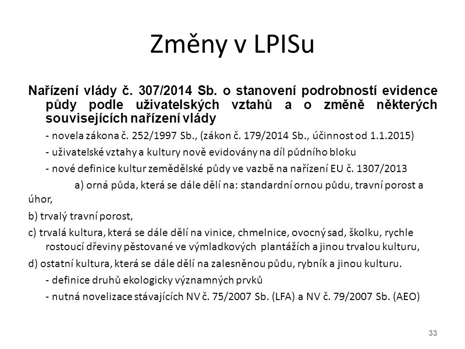 Změny v LPISu
