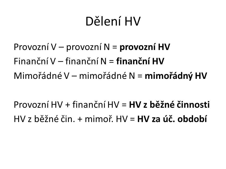 Dělení HV