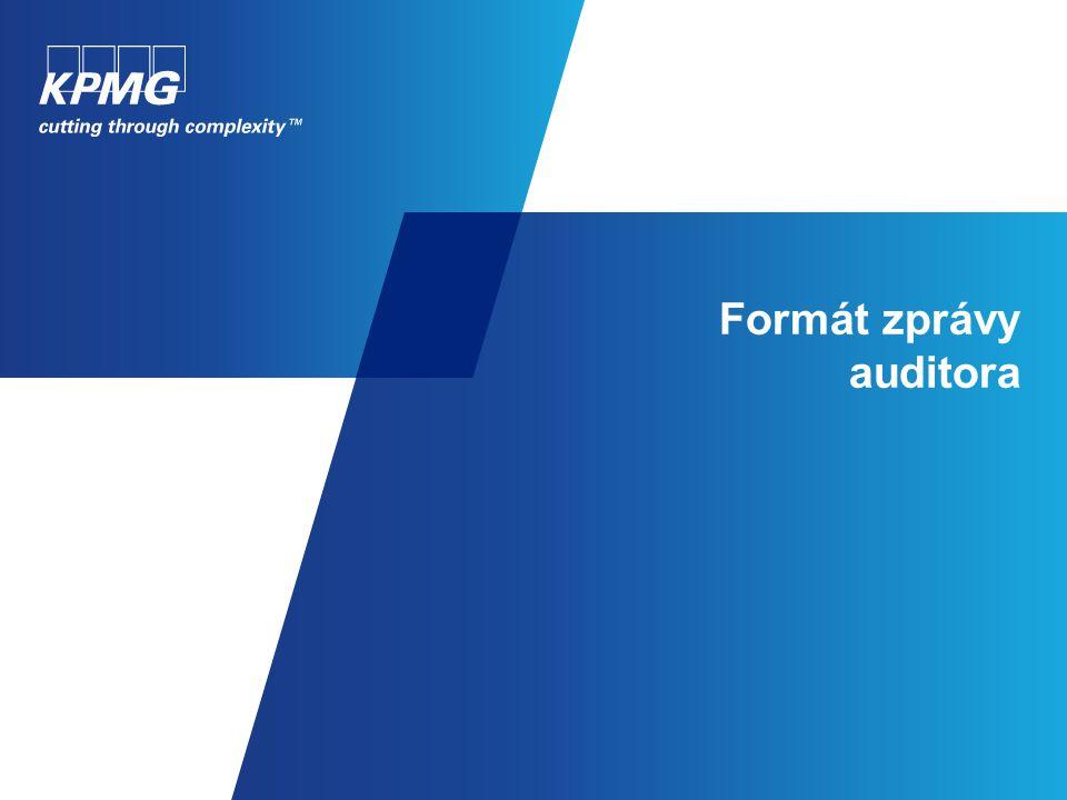 Formát zprávy auditora