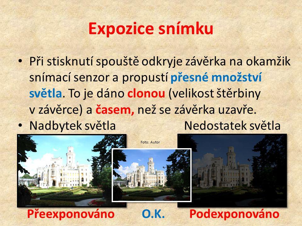 Expozice snímku