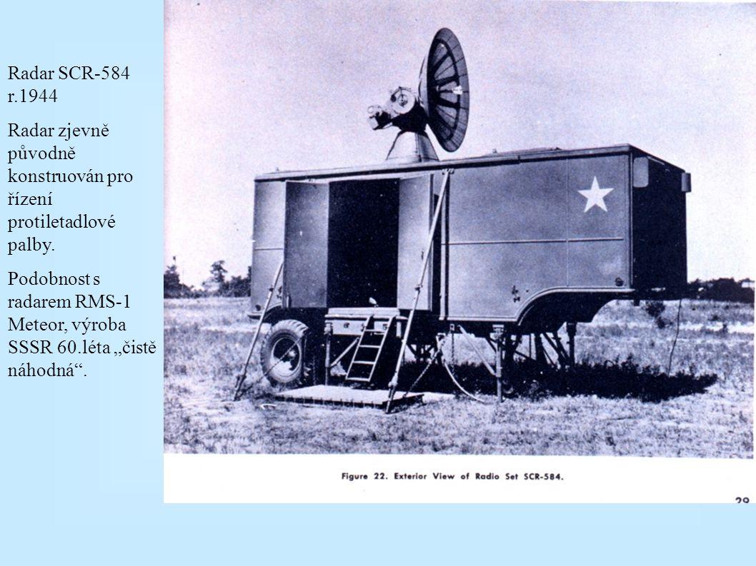 Radar SCR-584 r.1944 Radar zjevně původně konstruován pro řízení protiletadlové palby.