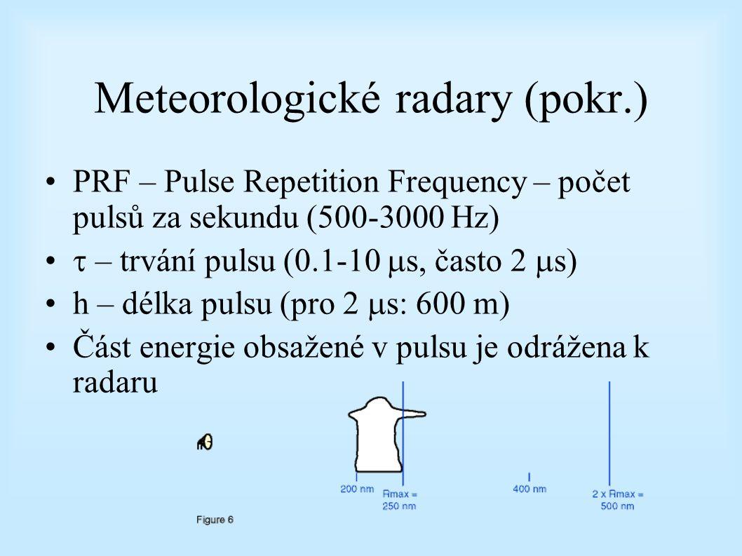 Meteorologické radary (pokr.)