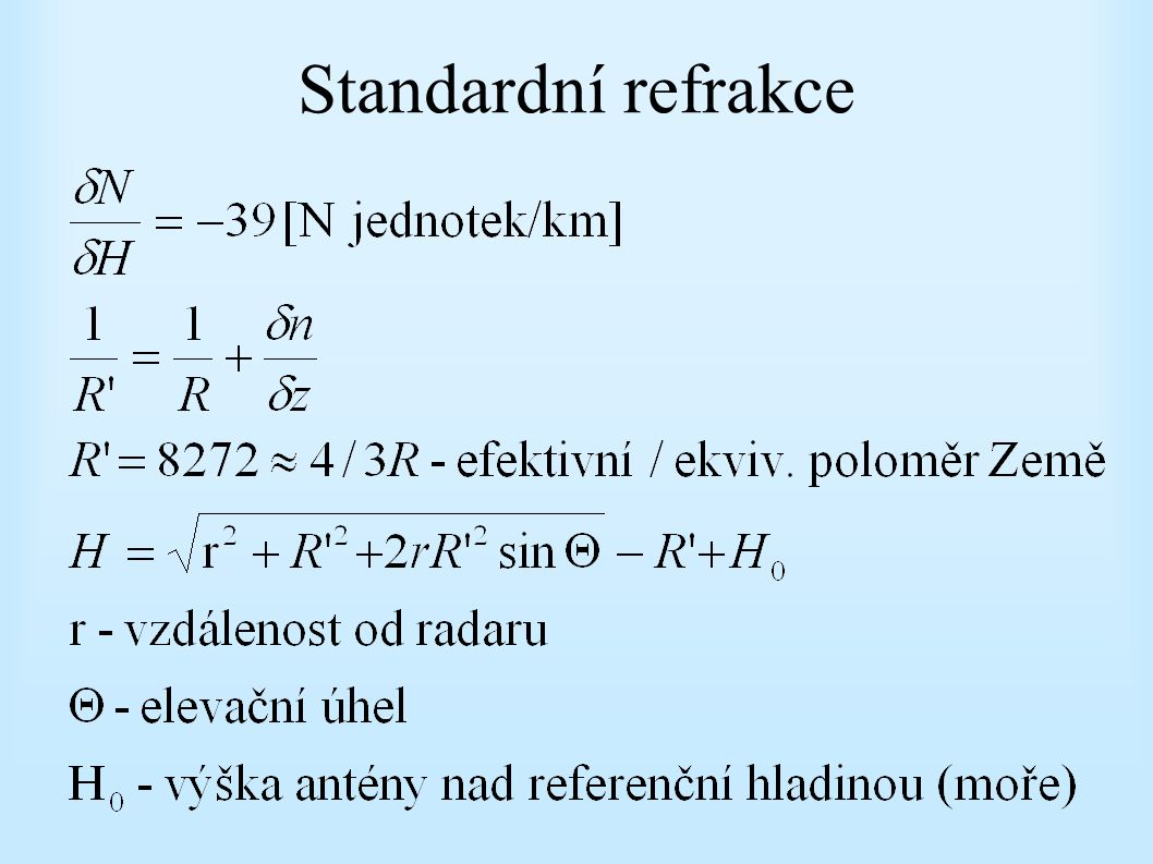 Standardní refrakce