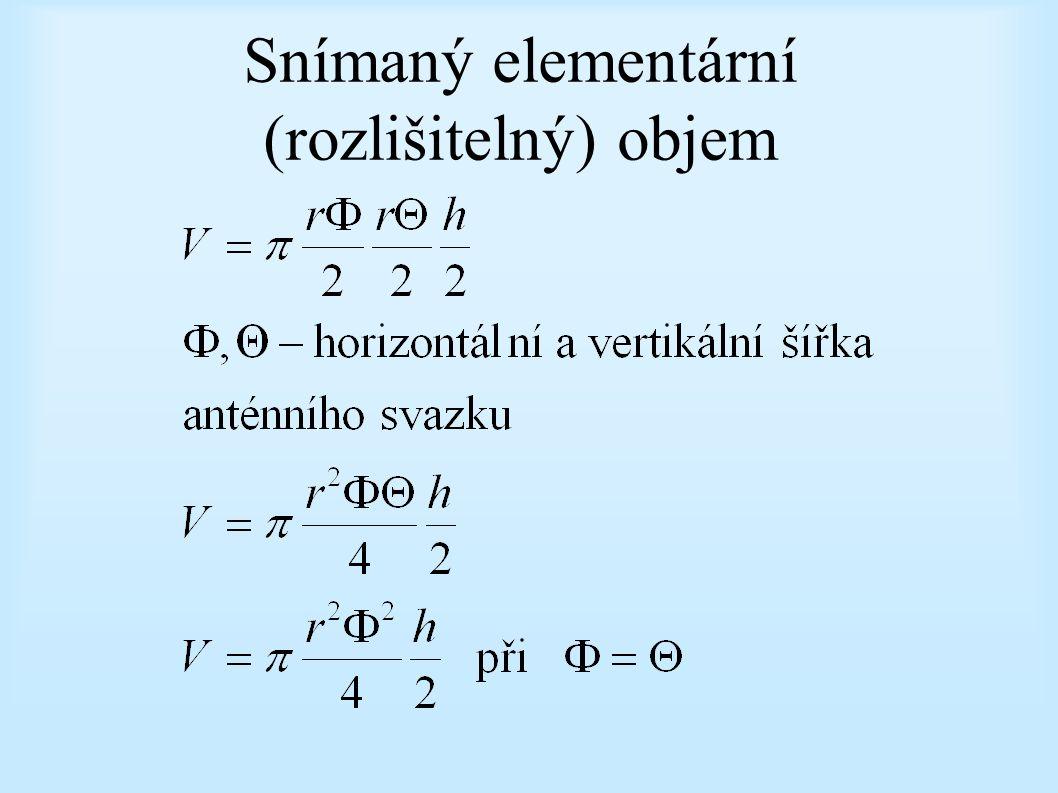 Snímaný elementární (rozlišitelný) objem