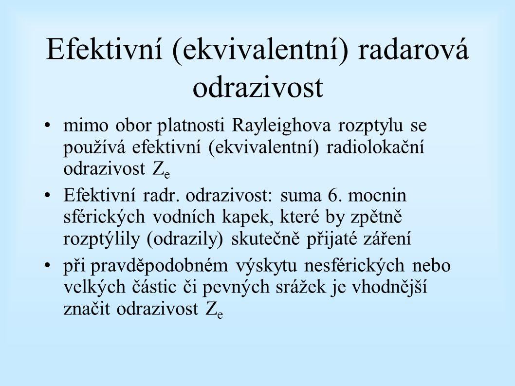 Efektivní (ekvivalentní) radarová odrazivost