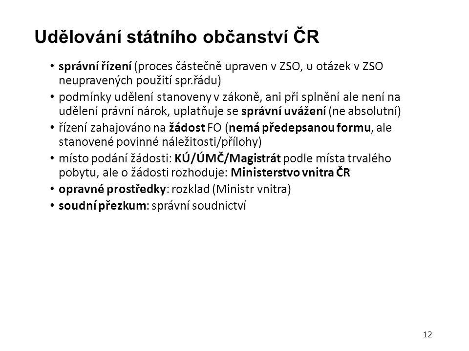 Udělování státního občanství ČR