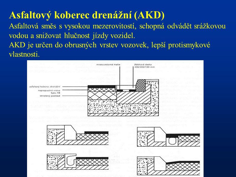 Asfaltový koberec drenážní (AKD)