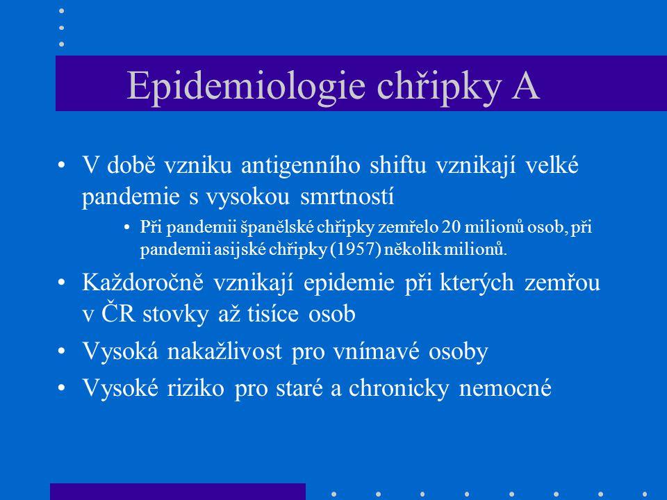 Epidemiologie chřipky A