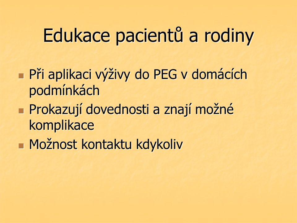 Edukace pacientů a rodiny