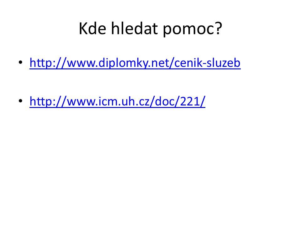 Kde hledat pomoc http://www.diplomky.net/cenik-sluzeb
