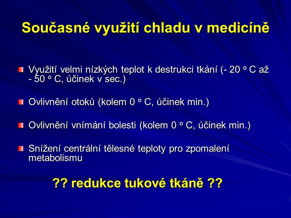 Současné využití chladu v medicíně