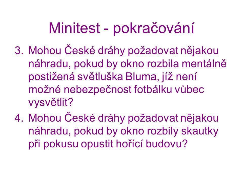 Minitest - pokračování