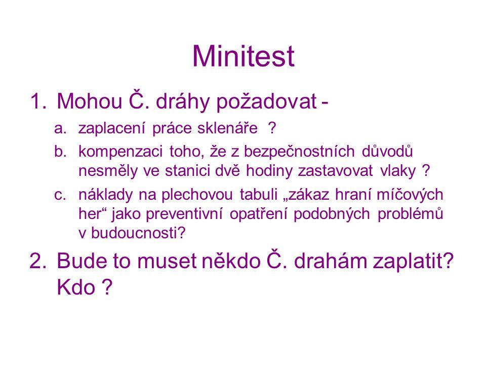 Minitest Mohou Č. dráhy požadovat -