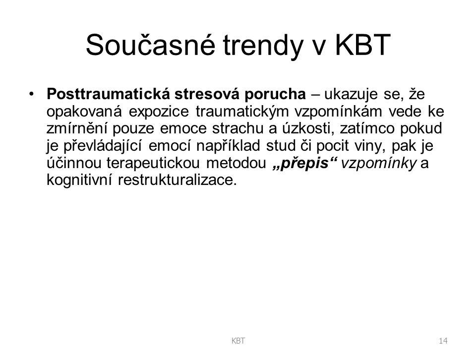 Současné trendy v KBT