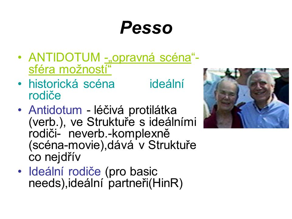 "Pesso ANTIDOTUM -""opravná scéna -sféra možností"