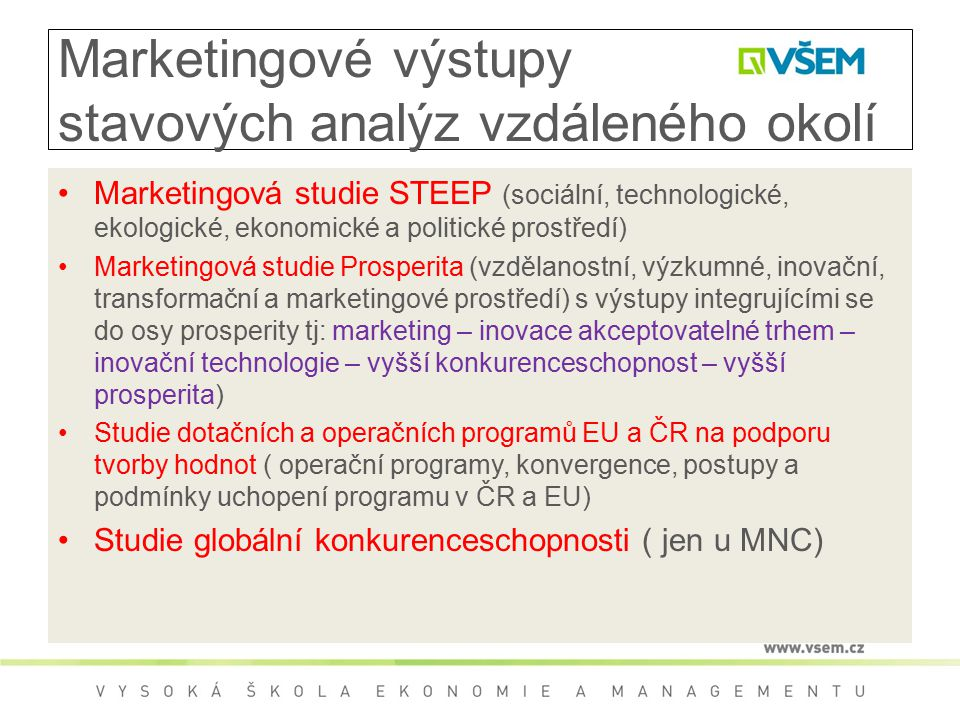 Marketingové výstupy stavových analýz vzdáleného okolí