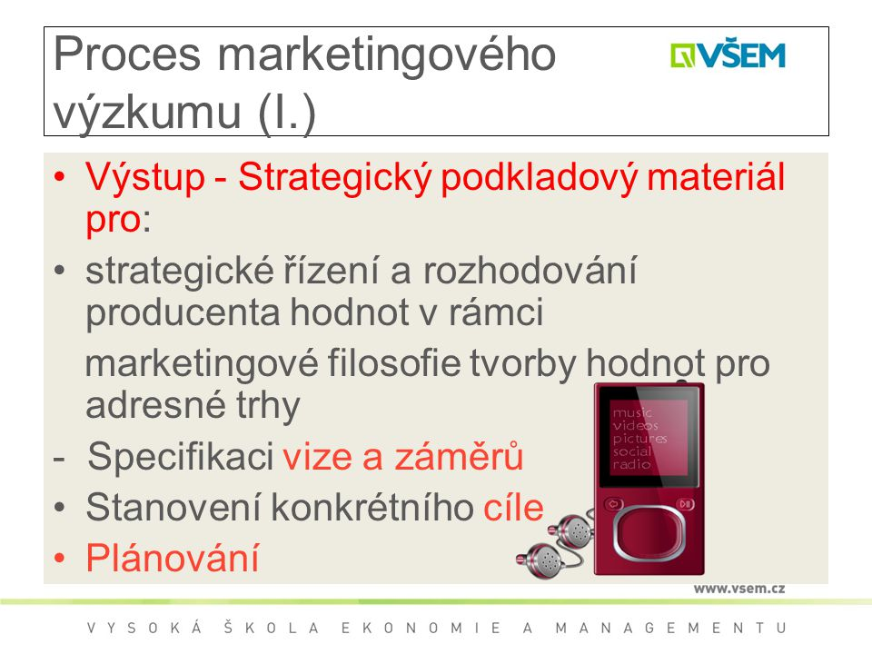 Proces marketingového výzkumu (I.)