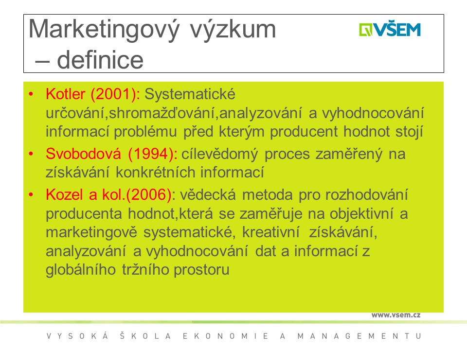 Marketingový výzkum – definice