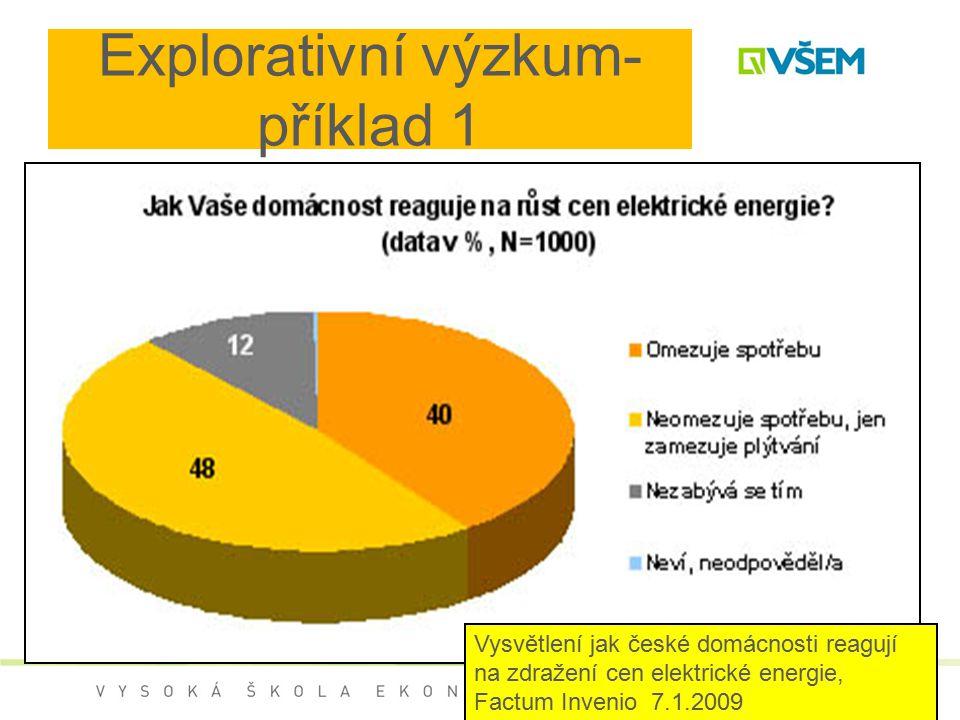Explorativní výzkum- příklad 1