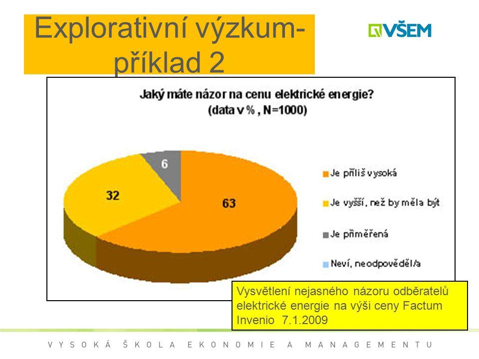 Explorativní výzkum- příklad 2