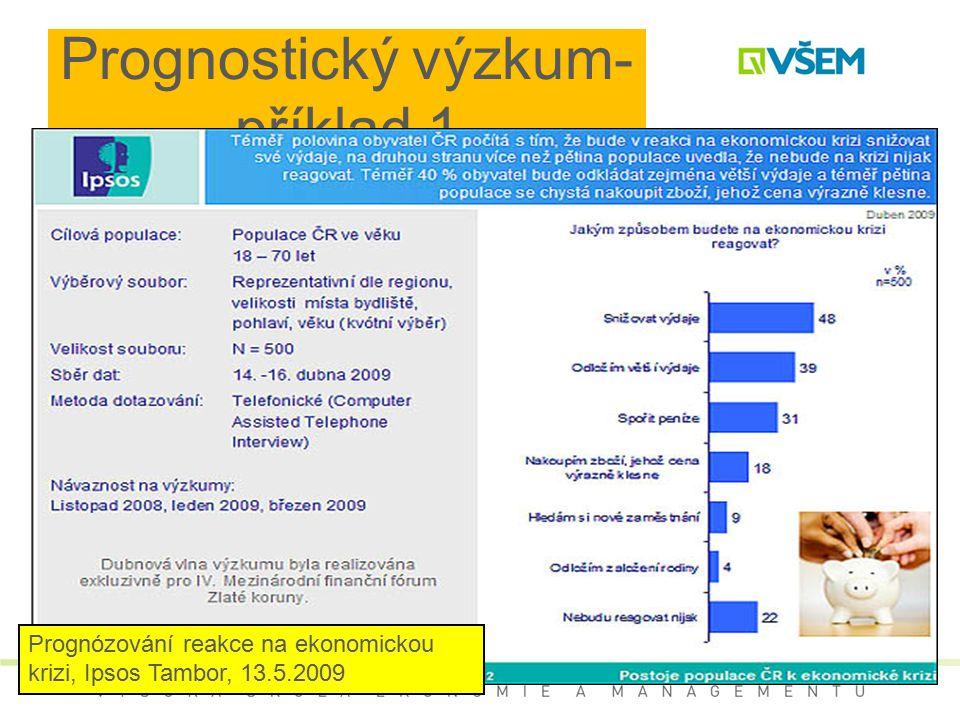 Prognostický výzkum- příklad 1