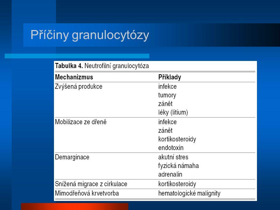 Příčiny granulocytózy