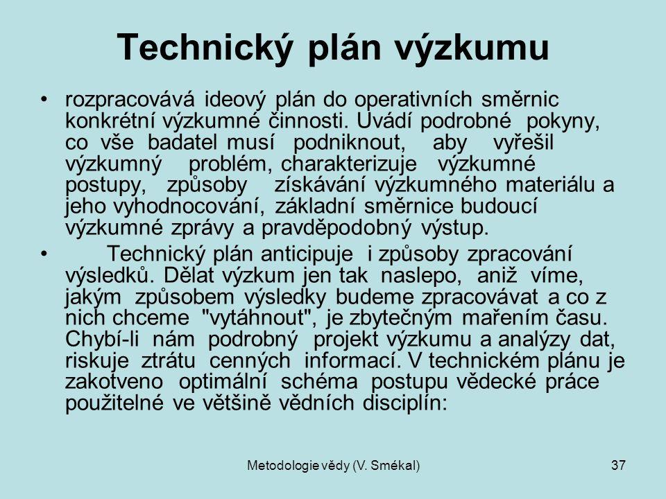 Technický plán výzkumu