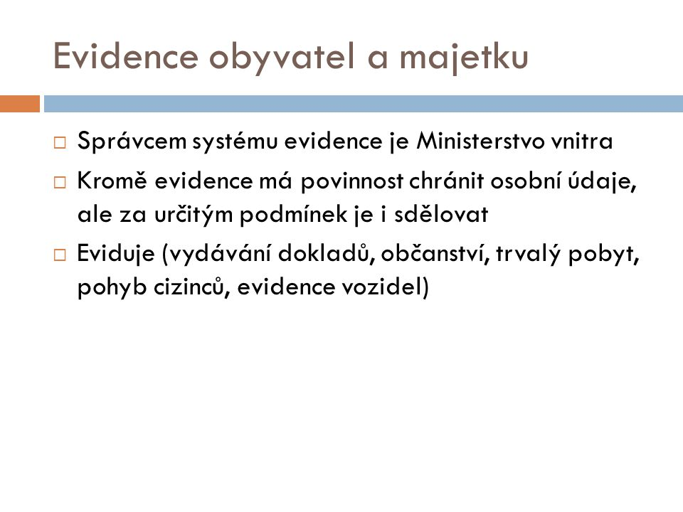 Evidence obyvatel a majetku