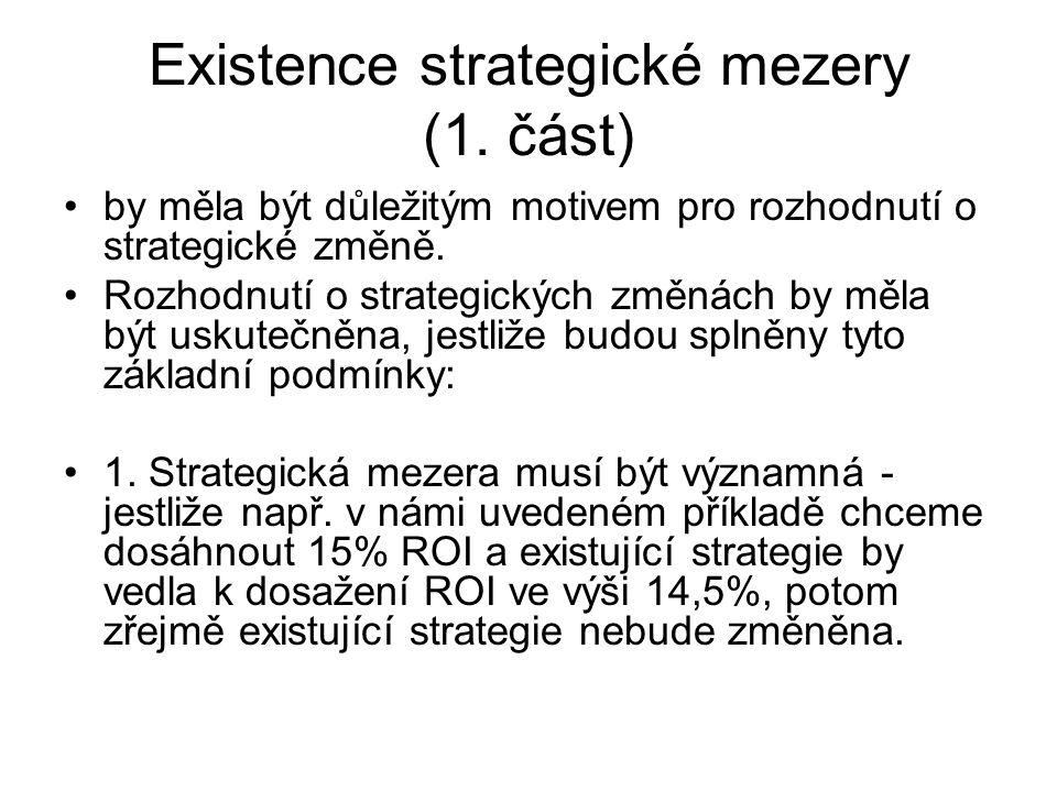 Existence strategické mezery (1. část)