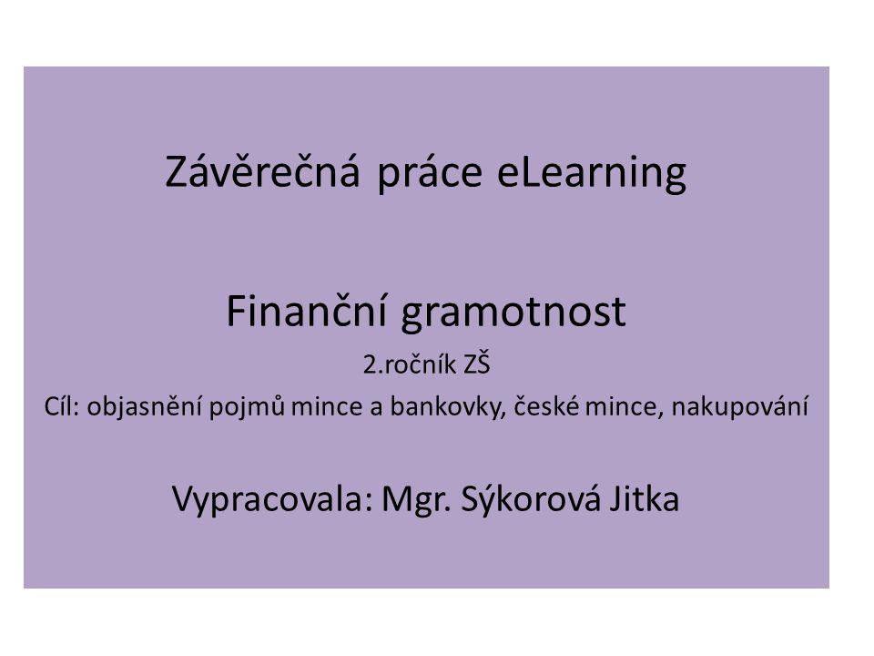 Závěrečná práce eLearning Finanční gramotnost