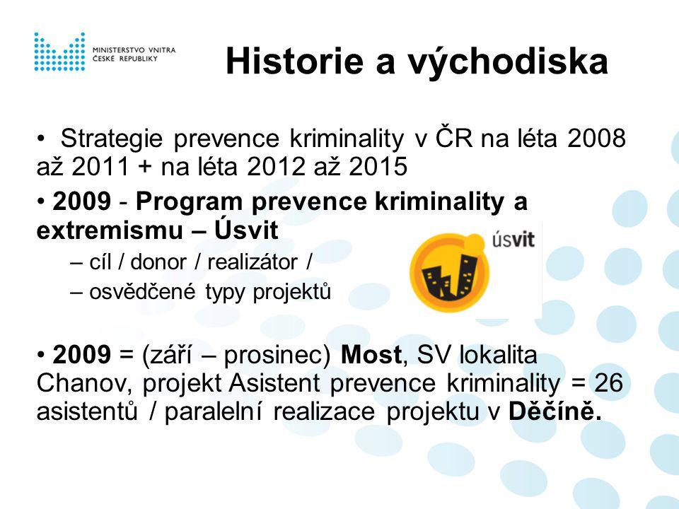 Historie a východiska Strategie prevence kriminality v ČR na léta 2008 až 2011 + na léta 2012 až 2015.