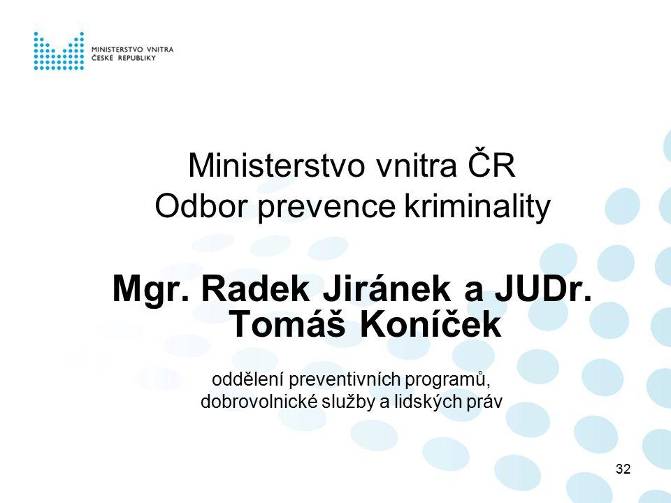 Mgr. Radek Jiránek a JUDr. Tomáš Koníček