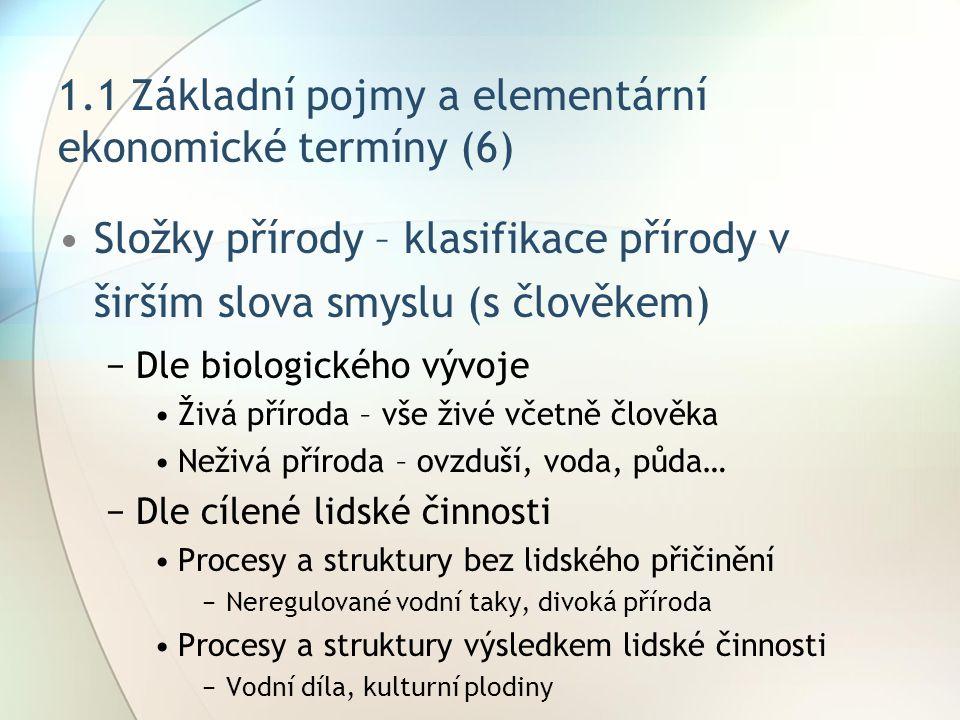 1.1 Základní pojmy a elementární ekonomické termíny (6)