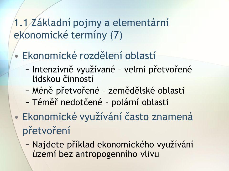 1.1 Základní pojmy a elementární ekonomické termíny (7)