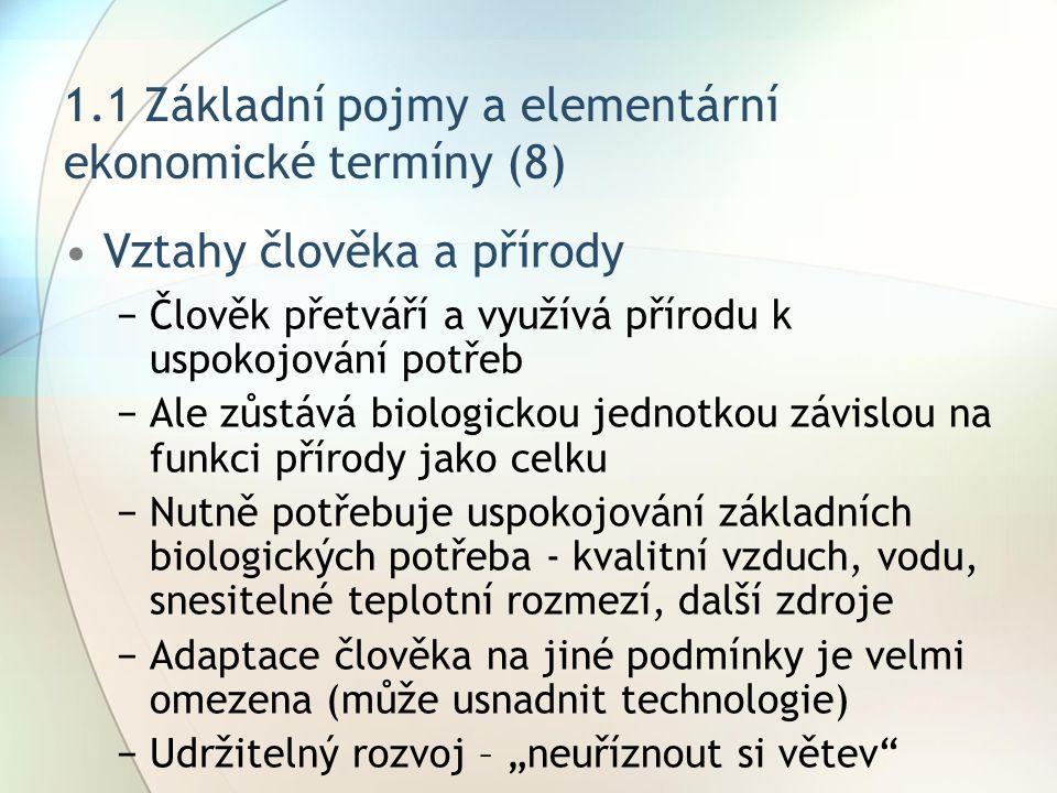 1.1 Základní pojmy a elementární ekonomické termíny (8)