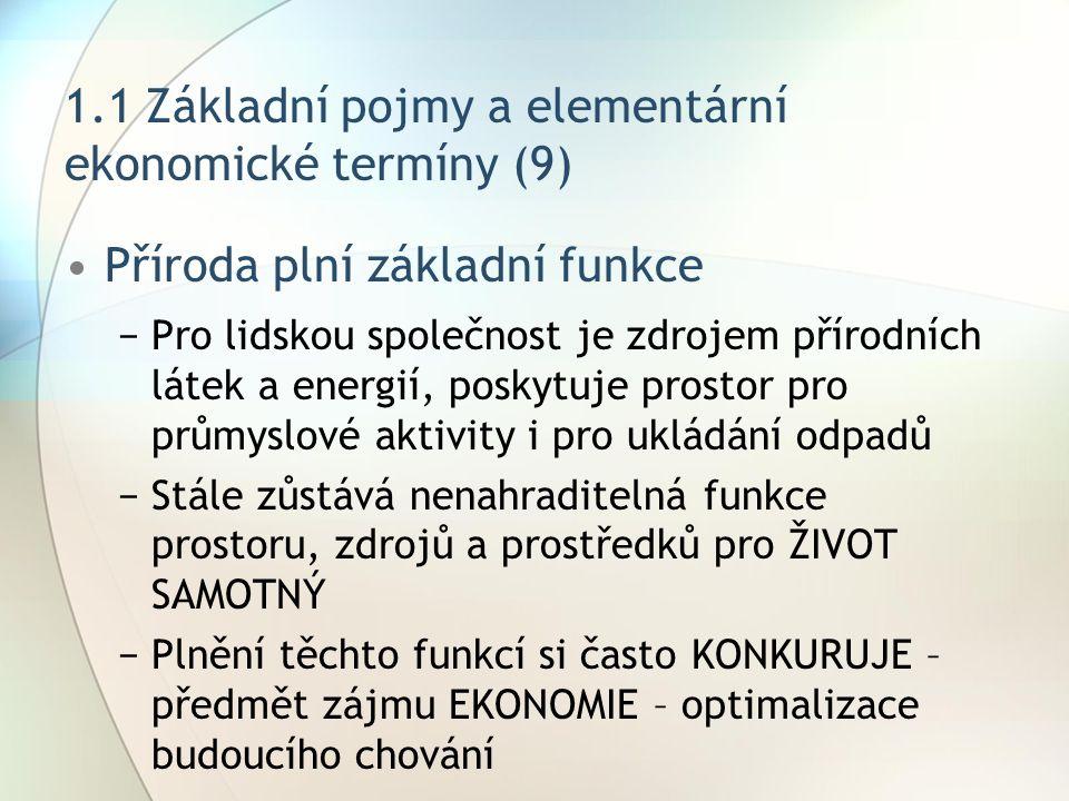 1.1 Základní pojmy a elementární ekonomické termíny (9)